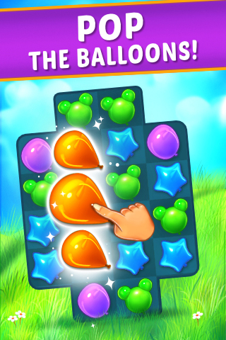 Balloon Paradise - Free Match 3 Puzzle Game - 1