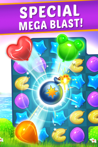 Balloon Paradise - Free Match 3 Puzzle Game -2